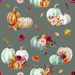 Pumpkin Cider Florals // Corduroy