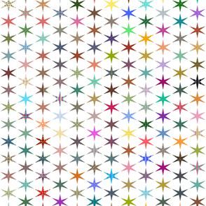 Patchwork Stars on White