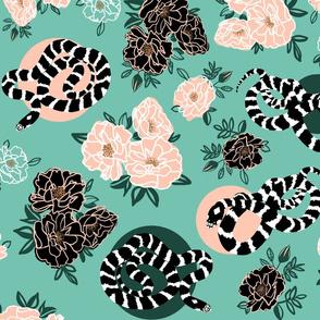 Summer Garden - Roses and King Snakes