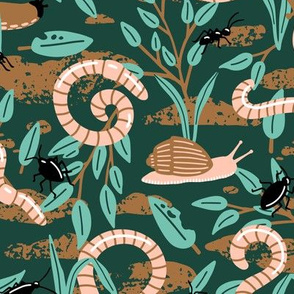 Cute Creepy-Crawlies : Limited Color Palette (Large Scale)