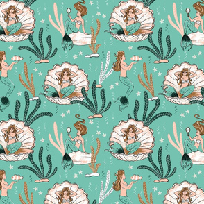 Mermaids - Limited Color Palette