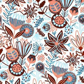 Winter Floral (Large Version)