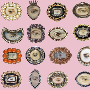 Victorian Inspired Lovers Eye In Pink  BadaBlingDesignsLtd