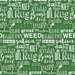 Cannabis word collage