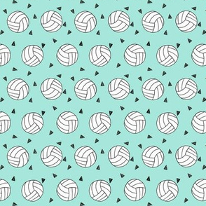 SMALL - volleyball fabric - sports fabric, beach volleyball, volleyballs, sport, sports fabric - mint