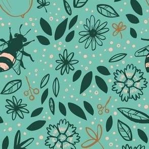 Savannah Summer Sketches (limited color palette)