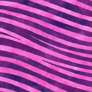 ★ WE'RE ALL MAD HERE ★ Cheshire Cat Watercolor Stripes (or Pink and Purple Zebra) / Collection : Wild Stripes – Punk Rock Animal Prints 2