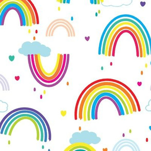 Painted Rainbows - Medium Print