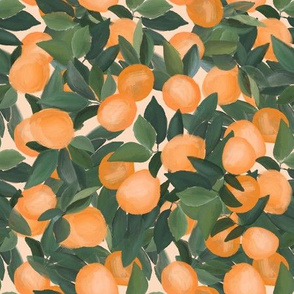 orange grove on peachy cream