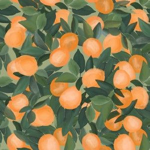orange grove on taupe