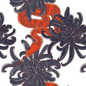 Dangerous snake garden red