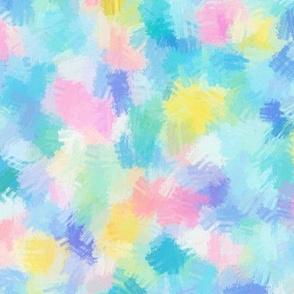 Painterly Rainbow Dots