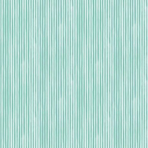 Vertical Miniature Watercolor Stripes Spearmint by Friztin