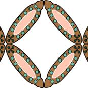 Geometric Bronze Rose Forest-01