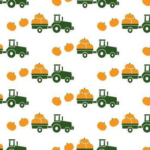 Pumpkin Picking - Fall Harvest - Green Tractors - LAD19