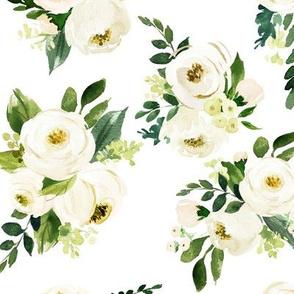 Bohemian Garden Roses // White