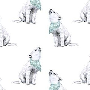 "4"" Boy Baby Wolf with Bandana"