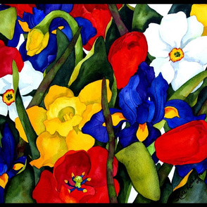 Spring Floral Large Scale