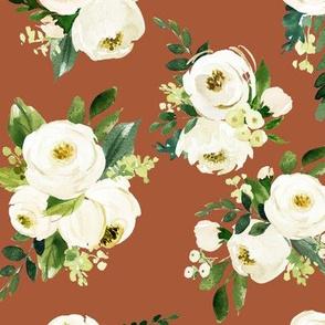 Bohemian Garden Roses // Brown Rust
