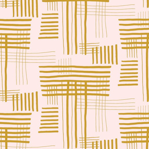 Crossing yellow Hand Drawn Lines Pattern
