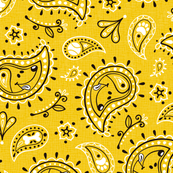 Retro Dog Paisley_Yellow