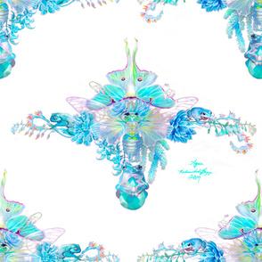 Aqua Chalcedony Cicada
