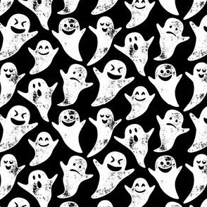 (small scale) ghost on black - halloween C19BS