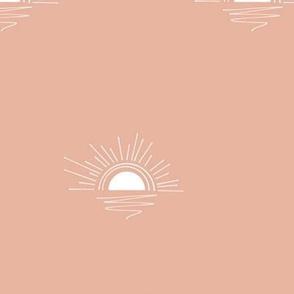 sunset - dusty blush, large scale