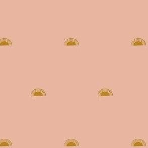 sun - golden on dusty blush