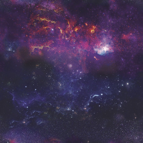 Galaxies Large Scale Purple Violet Stars