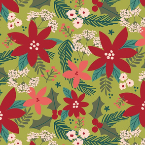Holly Floral-Green