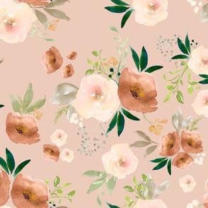 Santa Fe Watercolor Florals // Peach