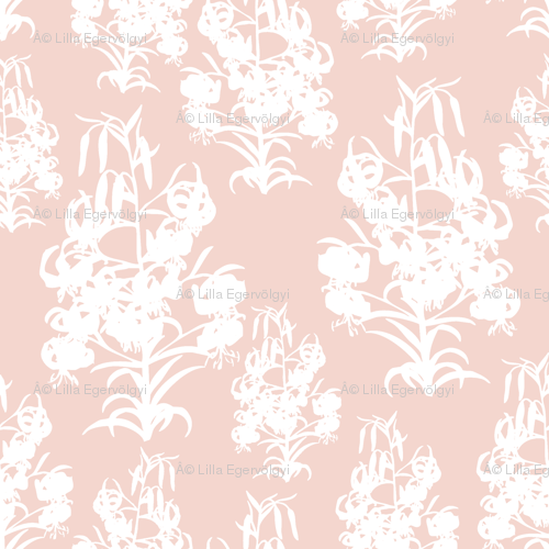 Plants On Pink Wallpaper Doubledot Spoonflower