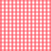 Fancy Free Gingham- Pink & White