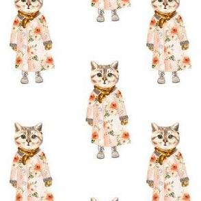 """4"""" Miss Kitty no Glasses White"""