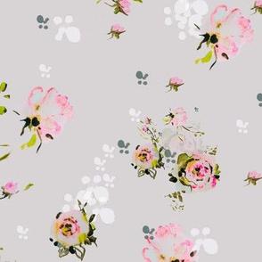 blush roses grey
