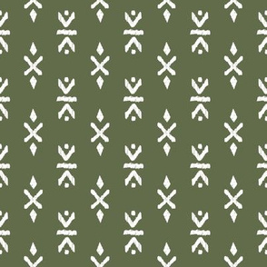 Monochrome tribal navajo aztec indian summer ethnic print olive army green