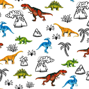 Happy Dinosaurs Map - Large