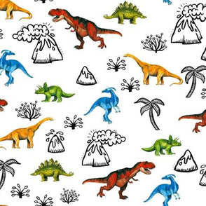 Happy Dinosaurs Map - Small