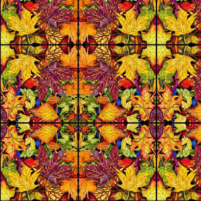 Autumn Leaves Abstract Pattern