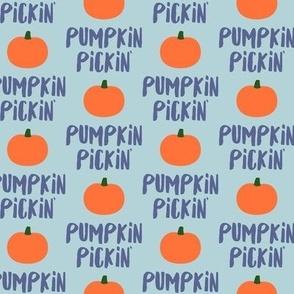 Pumpkin Pickin' - Blue on Blue - Fall - LAD19