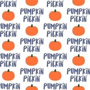 Pumpkin Pickin' - Blue - Fall - LAD19