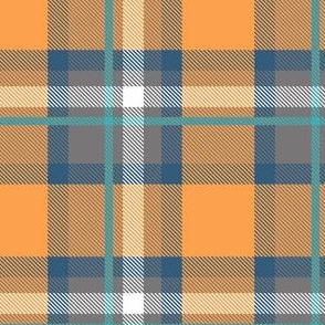 Blue and Orange Plaid V.01