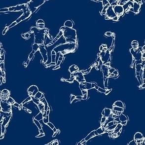 Football White on Blue