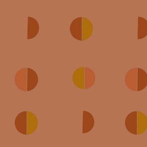 half moon symmetric - terracotta