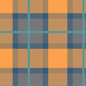 Blue and Orange Plaid V.02