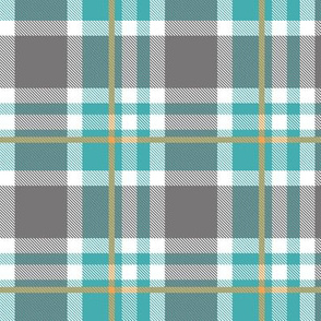 Blue and Orange Plaid V.03