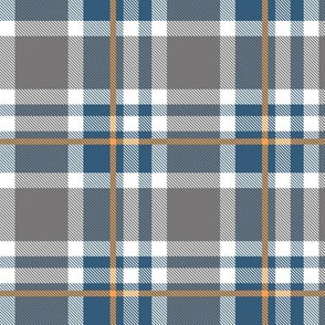 Blue and Orange Plaid V.04