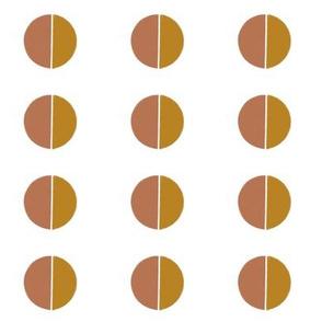 half moon symmetric - golden terracotta