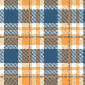 Blue and Orange Plaid V.06